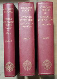 Oxford books; a bibliography of printed works relating to the University and City of Oxford or printed or published there - 3 volume set