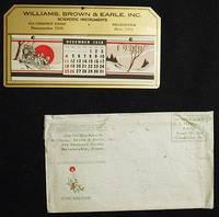 image of 1939 Advertising Calendar for Williams, Brown & Earle, Scientific Instruments, Philadelphia