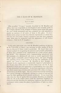 N Rays of M. Blondlot. An original article from the Report of the Smithsonian Institution, 1903