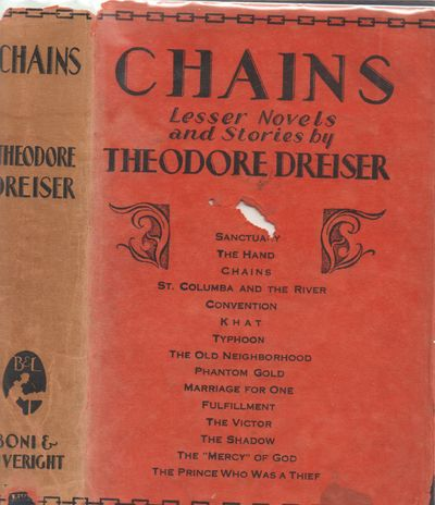 New York: Boni & Liveright. Very Good in Fair dust jacket. 1927. First Edition. Hardcover. Blue boar...