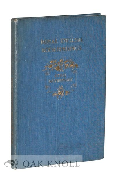 London: Seeley and Co, 1896. original blue cloth stamped in gilt, top edge gilt. Bookbinding. 8vo. o...