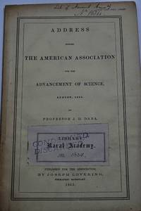 Address Before The American Association For The Advancement Of Science , August, 1855