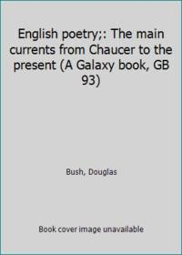 image of English poetry;: The main currents from Chaucer to the present (A Galaxy book, GB 93)