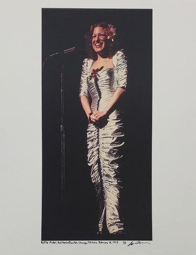 Chicago, 1973. Limited edition (1 of 6). Description: Bette Midler at the Auditorium Theater in Chic...