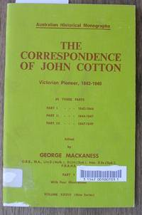 image of The Correspondence of John Cotton: Victorian Pioneer, 1842-1849