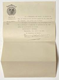 image of [Gun permit from the government of Sonora issued on behalf of an American, Ira Cecil McReynolds]