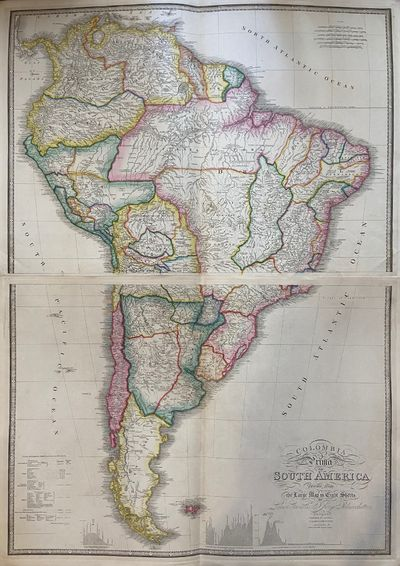 London: James Wyld, 1842. unbound. Map in 2 sheets. Engraving with original hand coloring. Each imag...