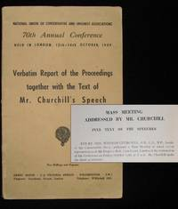 Winston Churchill's 14 October 1949 Speech to the 70th Annual Conservative Party Conference published in the Report of the Proceedings