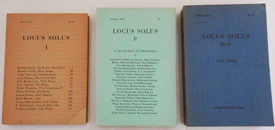 Spain: Locus Solus, 1961. First edition. Paperback. Very Good. Small 8vo paperbound format. The firs...