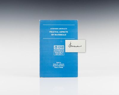 Materials Research Society, 1985. First edition. Octavo, original light blue wrappers. Signed by Ben...