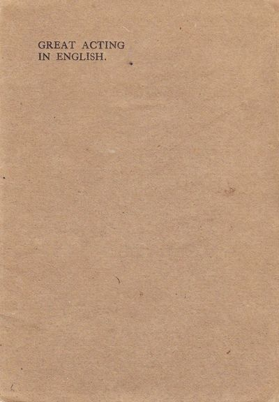 London: Privately Printed, 1907. Paperback. Near Fine. Paperback. First Edition. Printed by Ballanty...