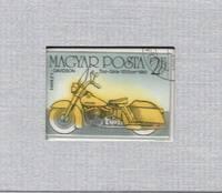 Framed Postage Stamp Mini-Art - Vintage Harley-Davidson Motorcycle