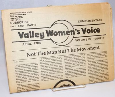 Amherst, MA: Valley Women's Voice, 1984. 16p., folded tabloid format, illus., ads for local business...