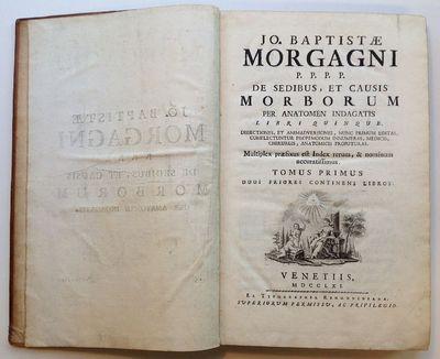 Venice: Ex Typographia Remondiniana, 1761. First. hardcover. Libri Quinque. Dissectiones, et Animadv...