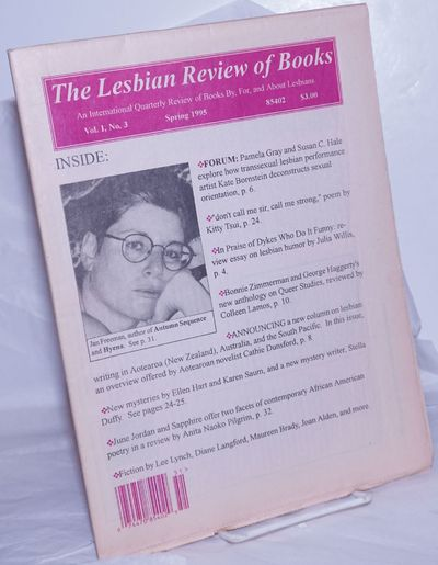 Altadena, CA: The Review, 1995. Newspaper. 36p. folded tabloid newspaper/journal, articles, poetry, ...