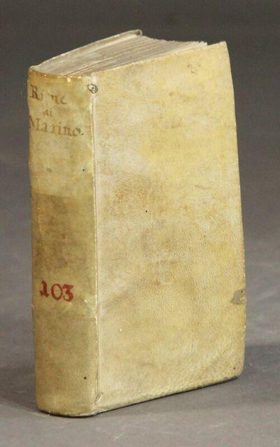 Parma: Stamperia di Erasmo Viotti, 1605. 2 volumes in 1 (as issued), 24mo, pp. , 253, , 193, ; engra...