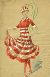 image of French Costume Designs by Minon, 18 watercolors
