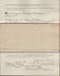 Documents Legal (Final distribution of property list): Commonwealth of Massachusetts, Barnstable ss., Probate Court, September 9, 1895