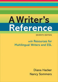 A Writer's Reference with Resources for Multilingual Writers and ESL by  Nancy Hacker Diana; Sommers - 2011-01 - from Providence In Motion and Biblio.co.uk