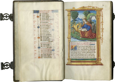 REMARKABLE EXAMPLE OF A PERFECTLY PRESERVED PARISIAN RENAISSANCE BOOK OF HOURS WITH BINDING, CLASPS,...