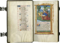 BOOK OF HOURS (Use of Rome), illuminated manuscript on parchment in Latin and French