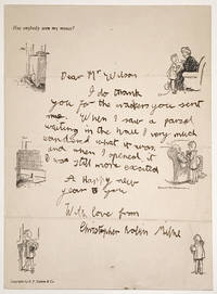Autograph Letter hand-written by A A Milne's Son