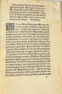Lucensium Oratio Luculentissima Pont. Maximo Alexandro Sexto per Nicolaum Tygrinu[m] Lucensem...