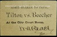image of Admit Bearer to Trial, Tilton vs. Beecher At the City Court Room.