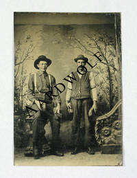 19th c. Photograph: Tintype Of A Pair Of Horse Grooms