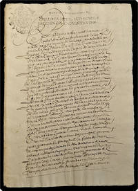 Manuscript on paper, in Spanish: A carta de poder.