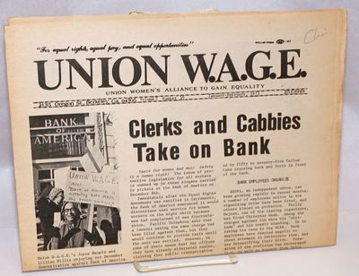 Berkeley, CA: Union Women's Alliance to Gain Equality, 1973. Folded tabloid format newspaper, 8p., 1...