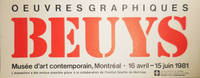 Beuys Oeuvres Graphiques (Exhibition Announcement Card)