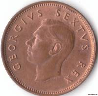 An Almost Uncirculated 1/4d 1952 Coin from South Africa
