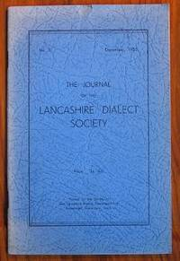 The Journal of the Lancashire Dialect Society No 5 December 1955