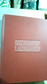 Censorship Landmarks by  Edward DE GRAZIA - First - 1969 - from Horizon Books (SKU: 62542)