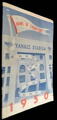 New York Yankees Scorecard - 9 Aug 1950 vs Boston