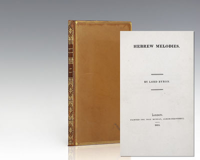London: John Murray, 1815. First edition, second printing of Byron's book of poetry written at the r...