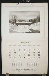 1955 Calendar.  Sanderson & Porter Engineers and Constructors.  New York