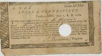 AUTHORIZING PAYMENT FOR SERVICE IN THE CONNECTICUT LINE OF THE CONTINENTAL ARMY, in a partly printed document, completed in manuscript June 1, 1782, promising three pounds and six pence to Eli Hoddard (later manuscript note in margin: Mostly likely Elisha Hobbard or Hobart) and signed by John Lawrence as state Treasurer
