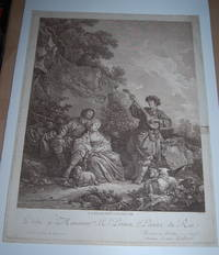 La Recreation Champetre. [Country Recreation. Serenade by Mandolin]. Original Engraving.