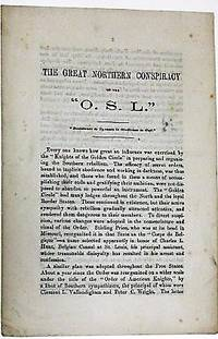 """THE GREAT NORTHERN CONSPIRACY OF THE """"O.S.L."""" ''RESISTANCE TO TYRANTS IS OBEDIENCE TO GOD."""