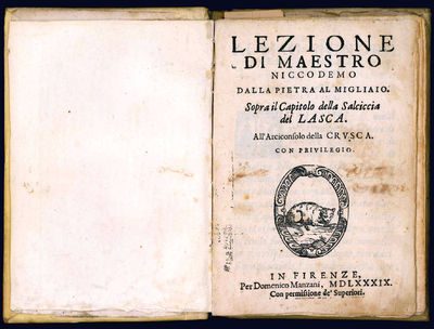 8vo (157x108 mm); later stiff vellum, ink title on spine; 60, (4) pp. Printer's device on the title-...