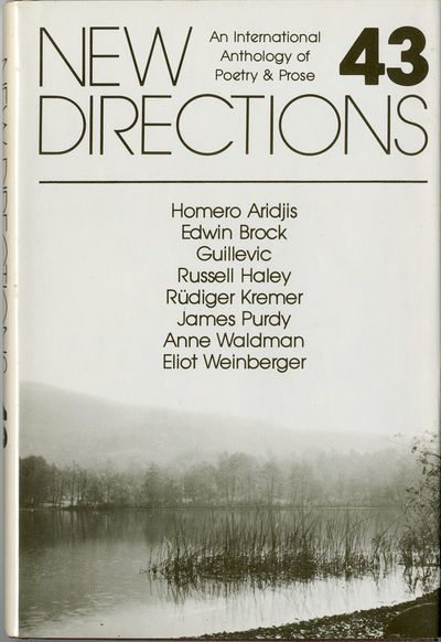 : New Directions, 1981. 186pp. Cloth. First edition, clothbound issue. Fine, in fine dust jacket. Ar...