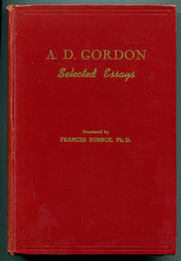 A. D. Gordon: Selected Essays