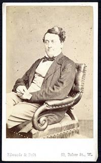 Carte-de-visite photograph portrait ca. 1860 by Edwards & Bult