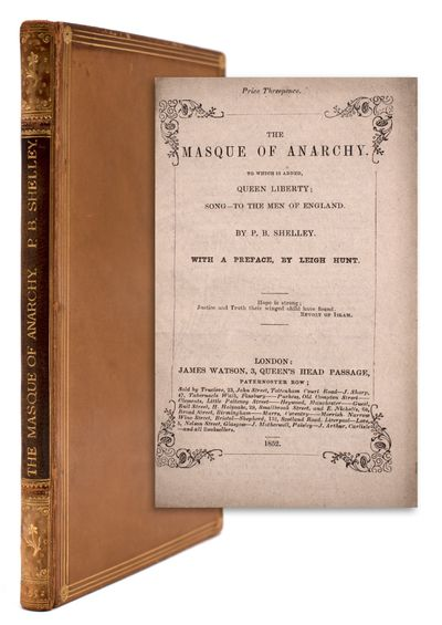 London: James Watson, 1852. 24pp.; 34pp extra leaves for bulk. 12mo. Original wrappers bound in, tri...