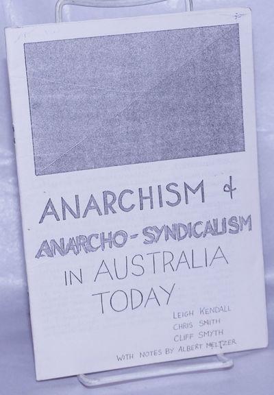 Melbourne, Australia: the authors, 1986. 29p., stapled wraps, 6x8.25 inches, wraps creased, small st...