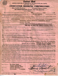 SIGNED Contract on American Federation of Musicians Letterhead
