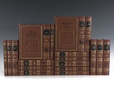 Westport, CT: Easton Press, 1999. Finely bound set of the works of Ernest Hemingway. Octavo, 20 volu...