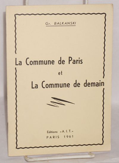 Paris: Editions 'A.I.T.', 1961. Pamphlet. 32p., stapled wraps, 5.5x8 inches, paper evenly browned el...